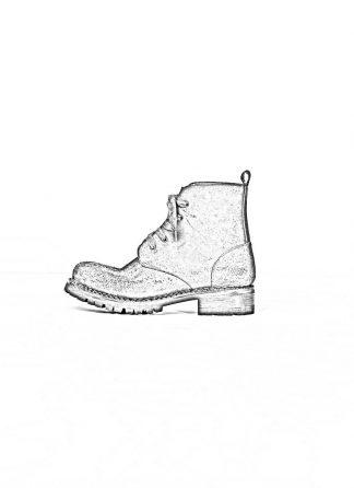 A Diciannoveventitre A1923 men boot thick rubber vibram sole stiefel schuh DOVER vachetta reverse leather black hide m 1