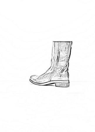 A Diciannoveventitre A1923 men double zip boot stiefel schuh ST3 soft horse leather black hide m 1