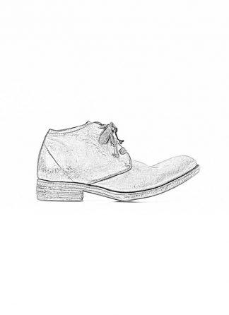 A Diciannoveventitre A1923 men short boot A18 shoe black horse cordovan leather red sole hide m 1