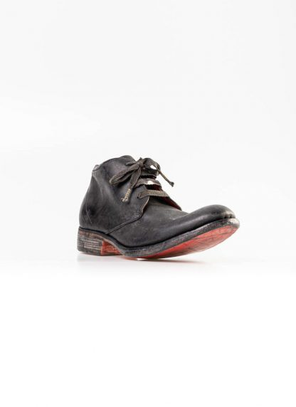 A Diciannoveventitre A1923 men short boot A18 shoe black horse cordovan leather red sole hide m 2