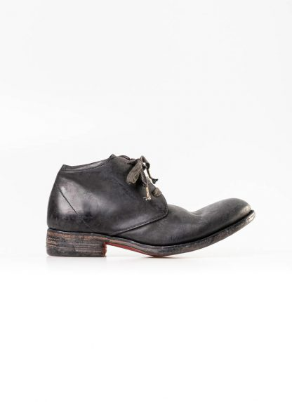 A Diciannoveventitre A1923 men short boot A18 shoe black horse cordovan leather red sole hide m 3