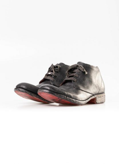 A Diciannoveventitre A1923 men short boot A18 shoe black horse cordovan leather red sole hide m 4