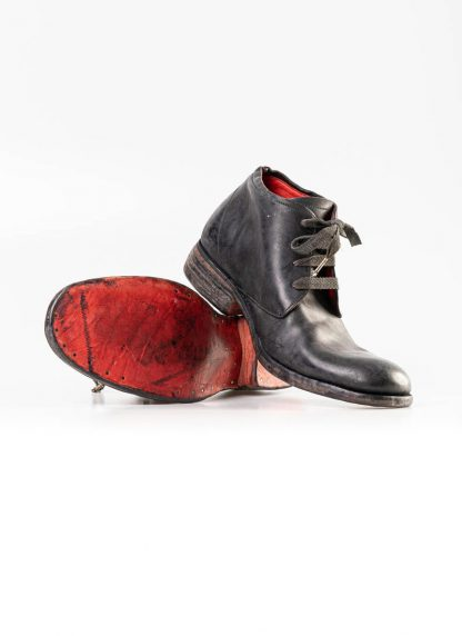 A Diciannoveventitre A1923 men short boot A18 shoe black horse cordovan leather red sole hide m 5