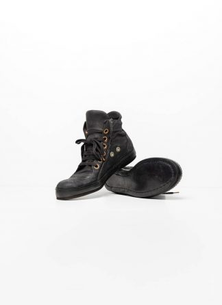 A Diciannoveventitre A1923 men sneaker schuh 019 horse leather black with black rubber sole hide m 2