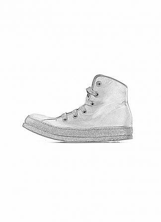 A Diciannoveventitre A1923 women sneaker MF01 boot shoe black calf leather black rubber sole hide m 1