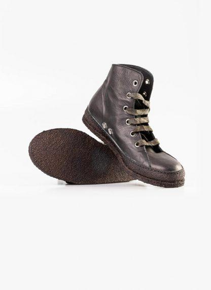 A Diciannoveventitre A1923 women sneaker MF01 boot shoe black calf leather black rubber sole hide m 4