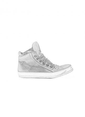 ADICIANNOVEVENTITRE A1923 AUGUSTA men 019 classic sneaker herren schuh handmade dirty white rubber sole horse leather black hide m 1