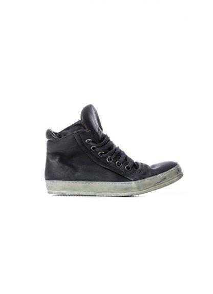 ADICIANNOVEVENTITRE A1923 AUGUSTA men 019 classic sneaker herren schuh handmade dirty white rubber sole horse leather black hide m 2