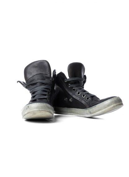 ADICIANNOVEVENTITRE A1923 AUGUSTA men 019 classic sneaker herren schuh handmade dirty white rubber sole horse leather black hide m 3