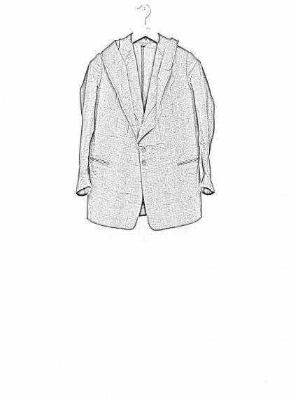 Andrea Cortella G1SS1920 women jacket with membrane collar dark grey cotton cashmere hide m 1