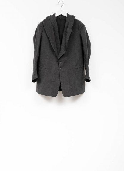 Andrea Cortella G1SS1920 women jacket with membrane collar dark grey cotton cashmere hide m 2