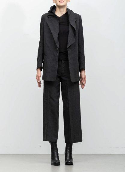 Andrea Cortella G1SS1920 women jacket with membrane collar dark grey cotton cashmere hide m 3