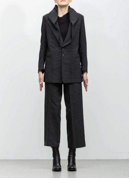 Andrea Cortella G1SS1920 women jacket with membrane collar dark grey cotton cashmere hide m 4