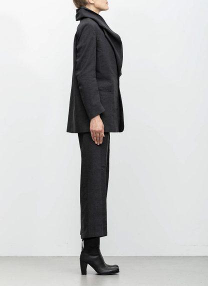 Andrea Cortella G1SS1920 women jacket with membrane collar dark grey cotton cashmere hide m 5