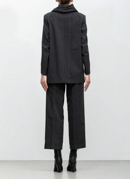 Andrea Cortella G1SS1920 women jacket with membrane collar dark grey cotton cashmere hide m 6