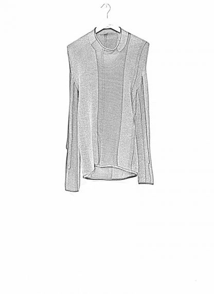 Andrea Cortella M1W1920 women sweater horizontal processing knit dark grey wool cashmere silk angora hide m 1