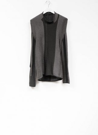 Andrea Cortella M1W1920 women sweater horizontal processing knit dark grey wool cashmere silk angora hide m 2