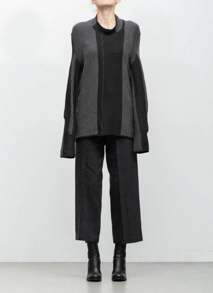 Andrea Cortella M1W1920 women sweater horizontal processing knit dark grey wool cashmere silk angora hide m 3