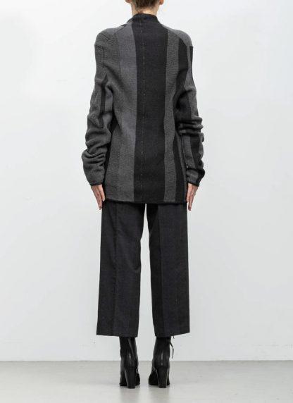 Andrea Cortella M1W1920 women sweater horizontal processing knit dark grey wool cashmere silk angora hide m 6