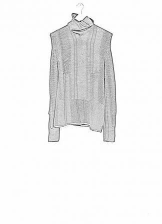 Andrea Cortella M4W1920 women sweater long horizontal processing knit turtel neck dark red wool cashmere silk angora hide m 1