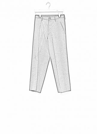 Andrea Cortella P2S1920 women pants with divergent joints dark grey cotton cashmere hide m 1