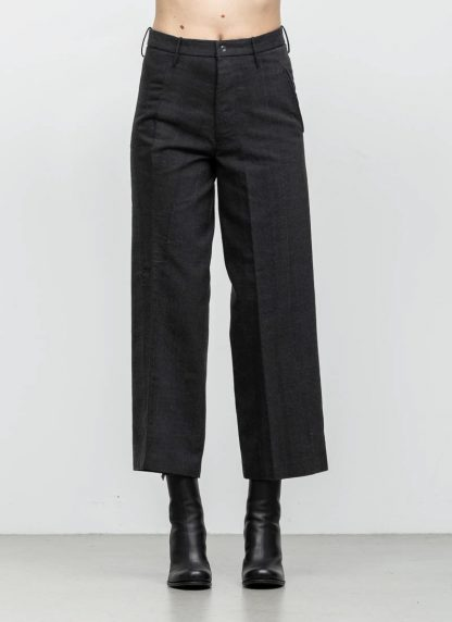 Andrea Cortella P2S1920 women pants with divergent joints dark grey cotton cashmere hide m 3