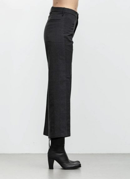 Andrea Cortella P2S1920 women pants with divergent joints dark grey cotton cashmere hide m 4