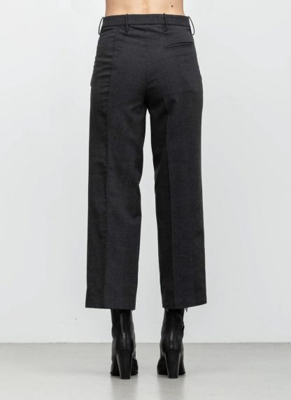 Andrea Cortella P2S1920 women pants with divergent joints dark grey cotton cashmere hide m 5