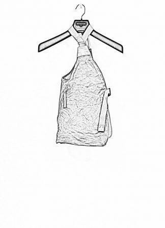 BORIS BIDJAN SABERI brutalism vest VEST BAG veg tan horse leather FMM20020 dark grey hide m 1