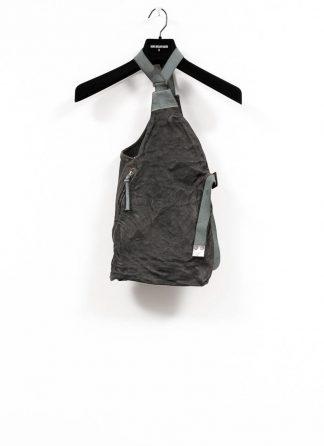 BORIS BIDJAN SABERI brutalism vest VEST BAG veg tan horse leather FMM20020 dark grey hide m 2