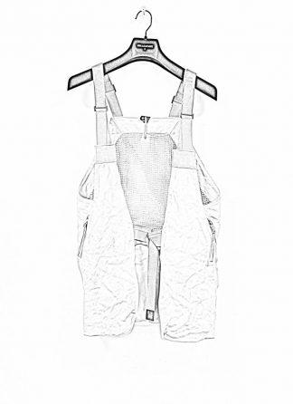 BORIS BIDJAN SABERI brutalism vest VEST2 kangaroo leather FMM20006 light grey hide m 1