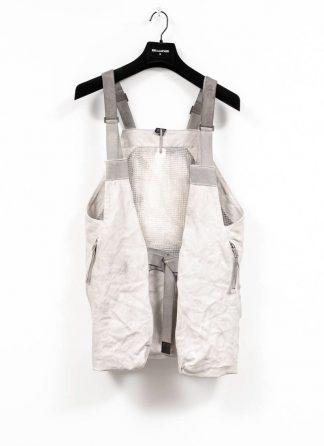 BORIS BIDJAN SABERI brutalism vest VEST2 kangaroo leather FMM20006 light grey hide m 2
