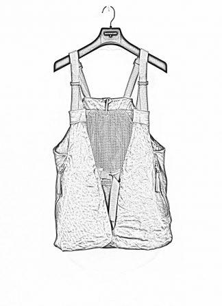 BORIS BIDJAN SABERI brutalism vest VEST2 veg tan horse leather FMM20020 dark grey hide m 1
