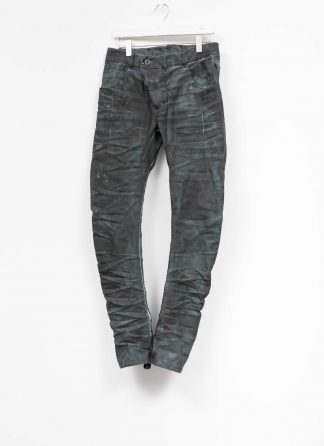 BORIS BIDJAN SABERI men pants hose P13TF F1504K CO PU exclusively limited dark patina blue hide m 2