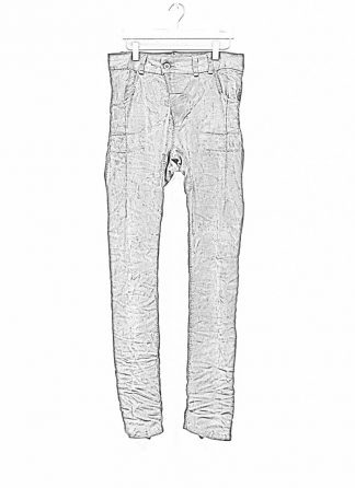 BORIS BIDJAN SABERI men pants hose fully hand stitched P13HS TF F177 CO LY patina grey hide m 1