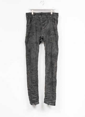 BORIS BIDJAN SABERI men pants hose fully hand stitched P13HS TF F177 CO LY patina grey hide m 2