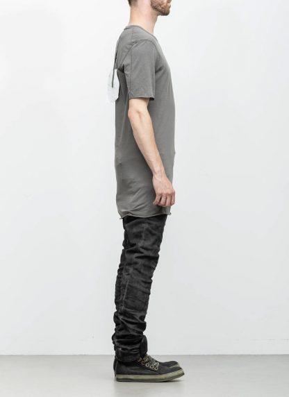 Boris Bidjan Saberi 11byBBS roots men tshirt TS1B dark grey cotton F1101 hide m 4