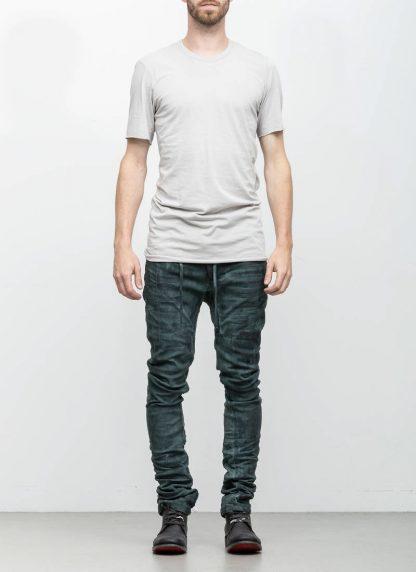 Boris Bidjan Saberi 11byBBS roots men tshirt TS1B light grey cotton F1101 hide m 3