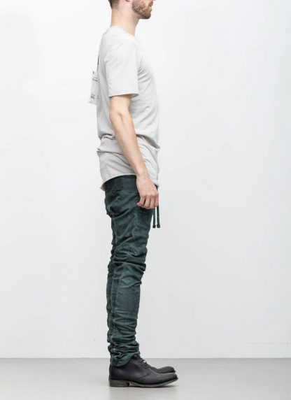 Boris Bidjan Saberi 11byBBS roots men tshirt TS1B light grey cotton F1101 hide m 4