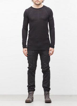Boris Bidjan Saberi BBS sweater KN1 black super fine merino FW1718 hide m 2