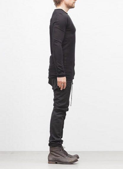 Boris Bidjan Saberi BBS sweater KN1 black super fine merino FW1718 hide m 3