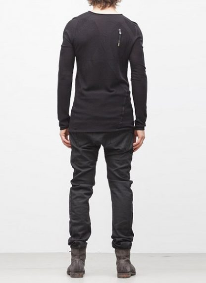 Boris Bidjan Saberi BBS sweater KN1 black super fine merino FW1718 hide m 4