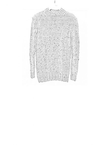 Boris Bidjan Saberi FW1819 hand knitted sweater KN7 merino wool mud grey hide m 1