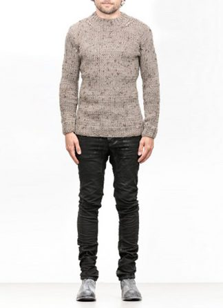 Boris Bidjan Saberi FW1819 hand knitted sweater KN7 merino wool mud grey hide m 2
