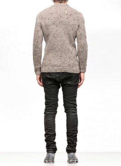 Boris Bidjan Saberi FW1819 hand knitted sweater KN7 merino wool mud grey hide m 4
