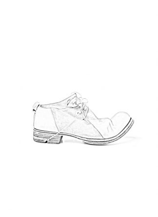 Boris Bidjan Saberi FW1819 men derby shoe stiefel schuh goodyear SHOE2 horse leather light grey dirty white hide m 1