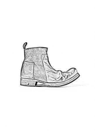 Boris Bidjan Saberi FW1819 men zip boot stiefel schuh goodyear BOOT2 horse leather black hide m 1