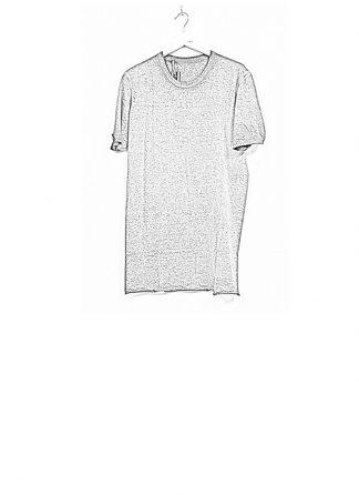 Boris Bidjan Saberi SS19 men tshirt tee TS1 RF cotton F035 dirty medium grey hide m 1