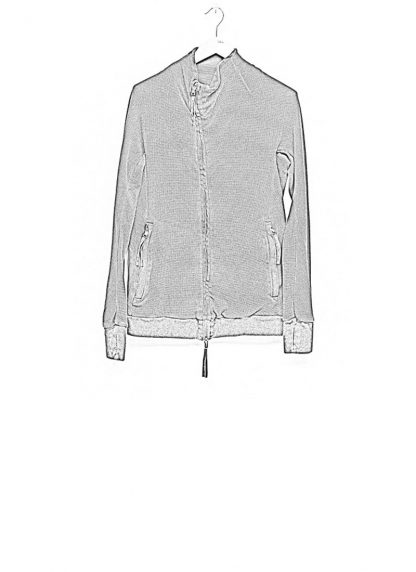 Boris Bidjan Saberi arcanism men zip sweater jacket ZIPPER1 archive green cotton pes hide m 1