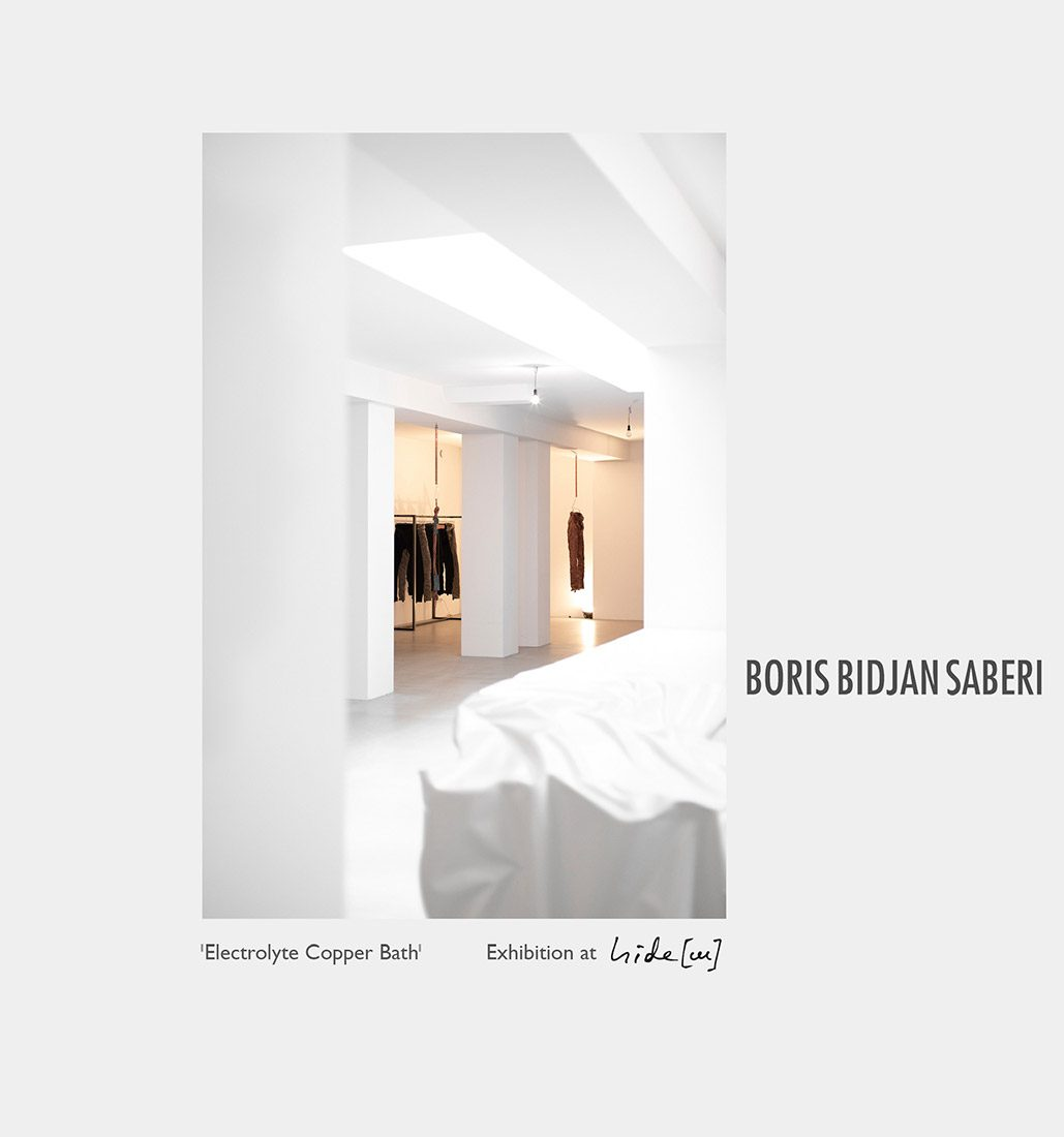 Boris Bidjan Saberi installation electrolyte copper bath hide m 09